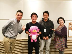 伊藤史隆さん、今村選手、岡村代表、谷口真由美さん(左から)